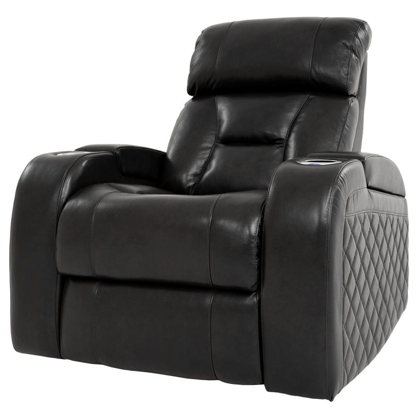 Gio Black Power Motion Leather Recliner  alternate image, 2 of 12 images.