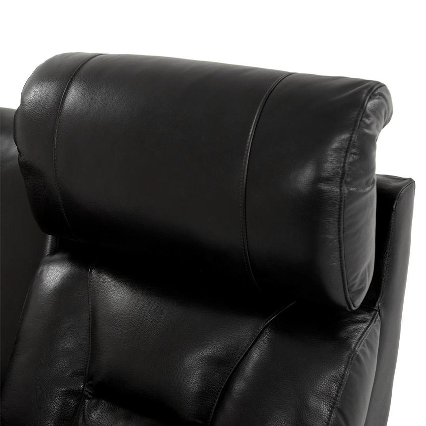Gio Black Power Motion Leather Sofa w/Console  alternate image, 7 of 13 images.