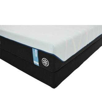 Luxe-Breeze Soft Queen Mattress w/Regular Foundation by Tempur-Pedic