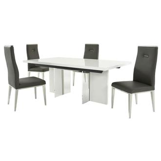 Siena/Hyde Gray 5-Piece Formal Dining Set