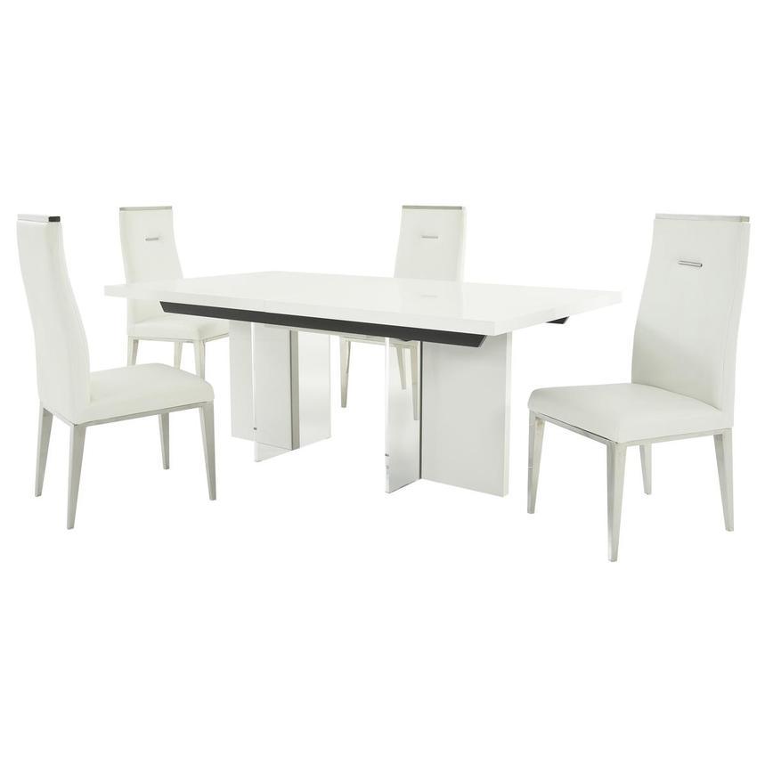 Siena Hyde White 5 Piece Formal Dining Set