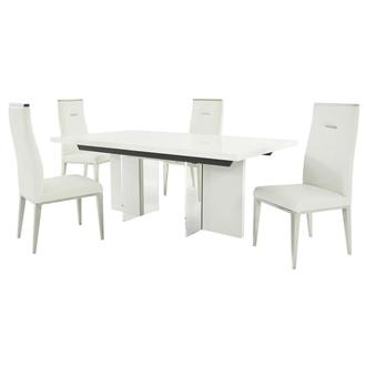Siena/Hyde White 5-Piece Dining Set