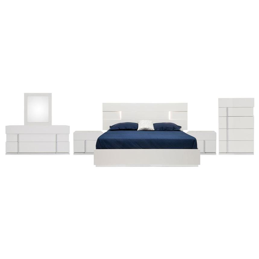 Ava 6-Piece King Bedroom Set Made in Italy  main image, 1 of 9 images.