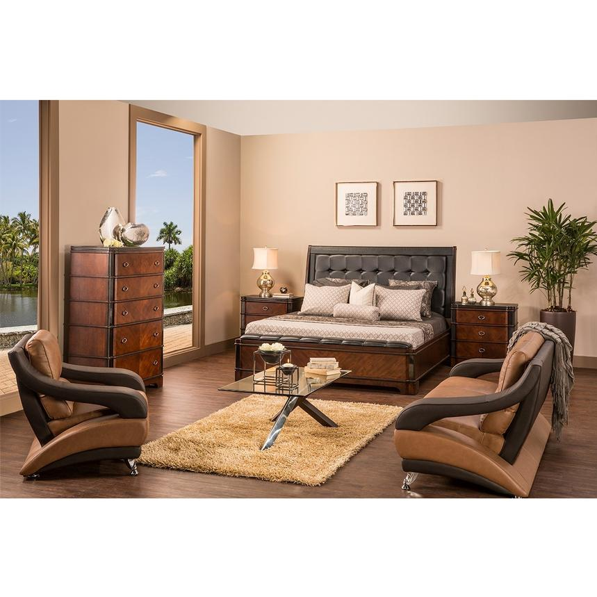 Donata 6-Piece King Bedroom Set  alternate image, 2 of 7 images.