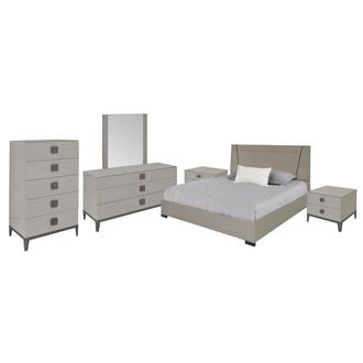 Mont Blanc Gray 6-Piece King Bedroom Set