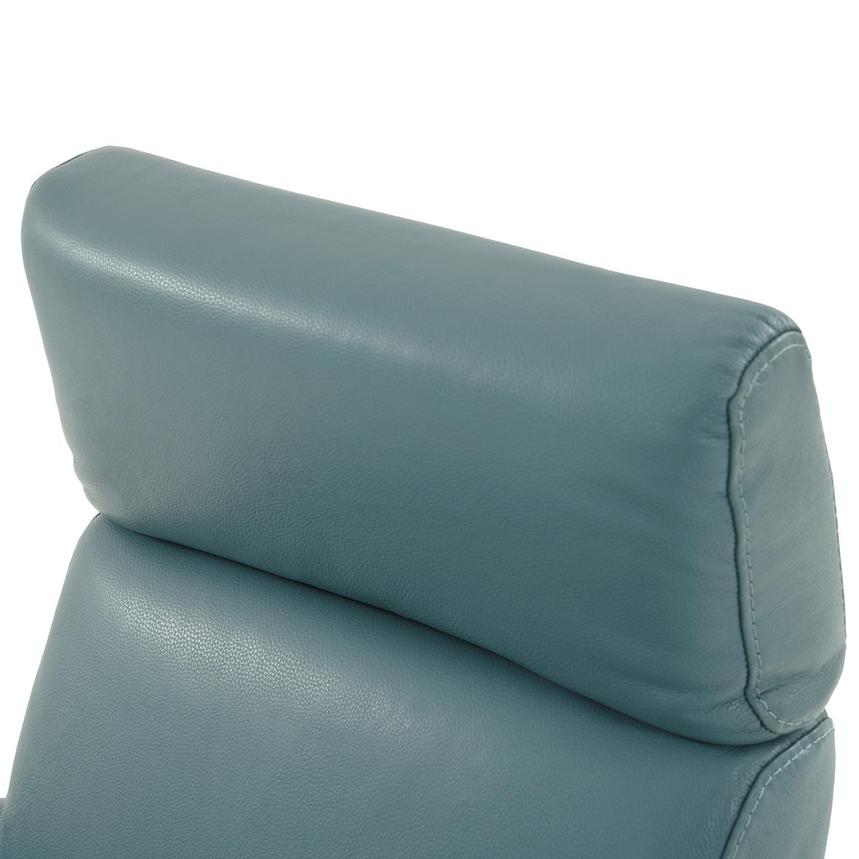 Lucca Blue Leather Power Recliner  alternate image, 7 of 9 images.