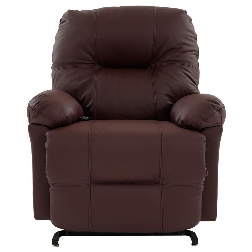 Wynette Burgundy Leather Power Lift Recliner  alternate image, 2 of 9 images.