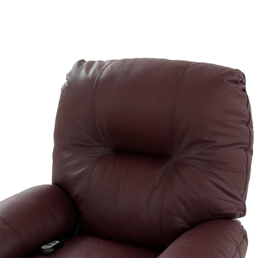 Wynette Burgundy Leather Power Lift Recliner  alternate image, 7 of 9 images.
