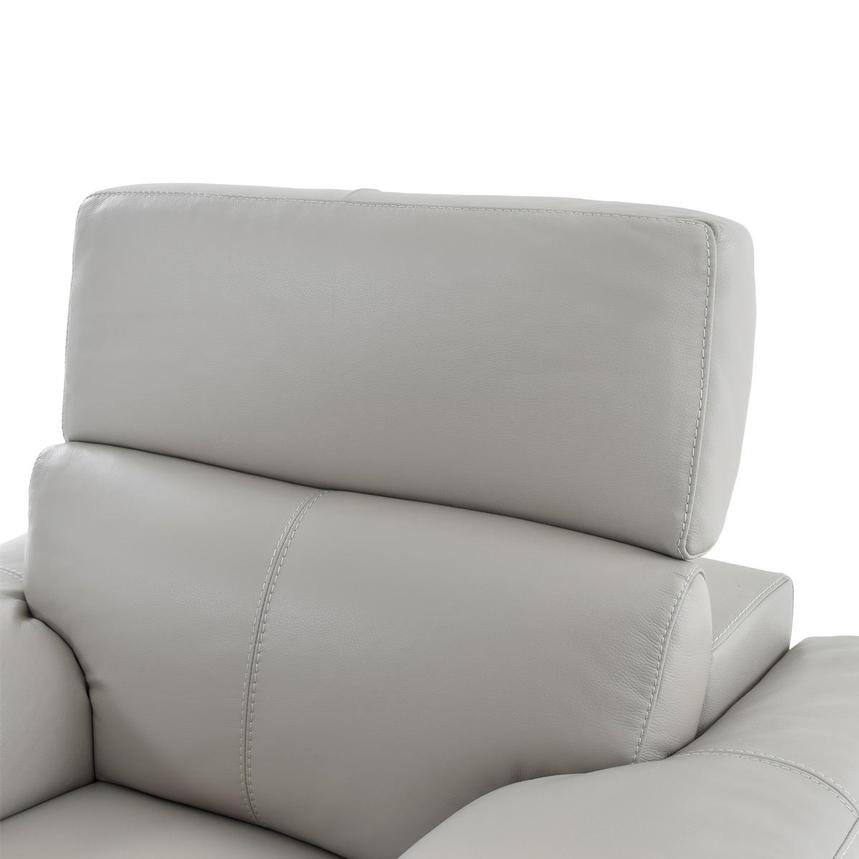 Charlie Light Gray Leather Power Recliner  alternate image, 6 of 11 images.