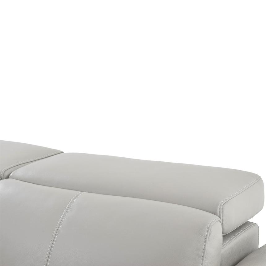 Charlie Light Gray Leather Power Reclining Sofa  alternate image, 7 of 11 images.