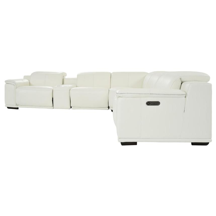 Davis 2.0 White Leather Power Reclining Sectional  alternate image, 3 of 11 images.
