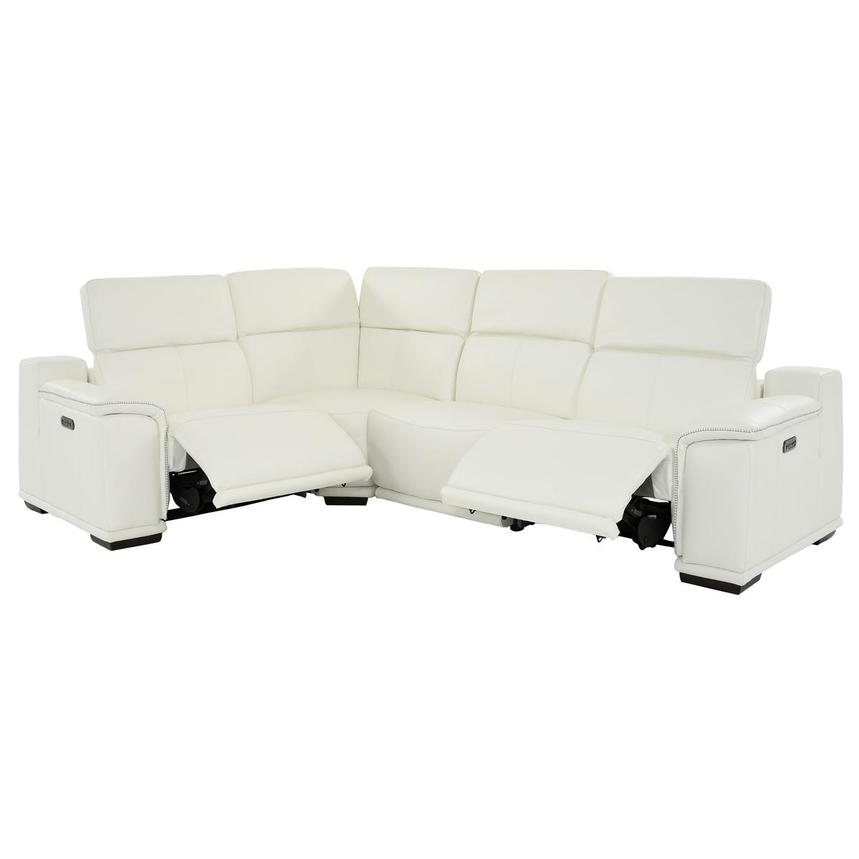 Davis 2.0 White Leather Power Reclining Sectional  alternate image, 2 of 10 images.