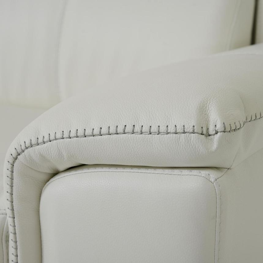 Davis 2.0 White Leather Power Reclining Sectional  alternate image, 7 of 10 images.