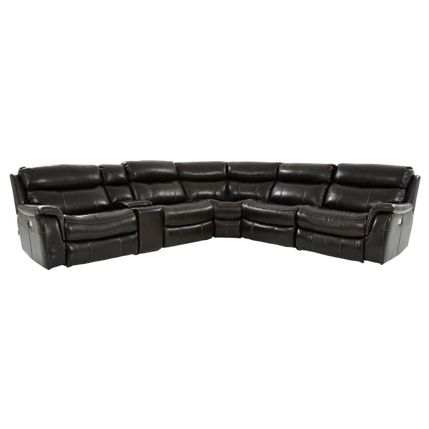 Jeremi Leather Power Reclining Sectional  main image, 1 of 9 images.