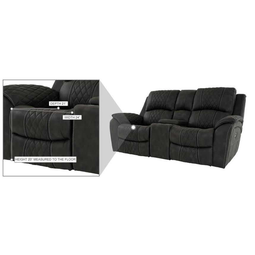 Jackson Power Reclining Sofa w/Console  alternate image, 12 of 13 images.
