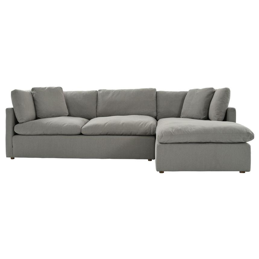 Neapolis Gray Corner Sofa w/Right Chaise  alternate image, 2 of 6 images.