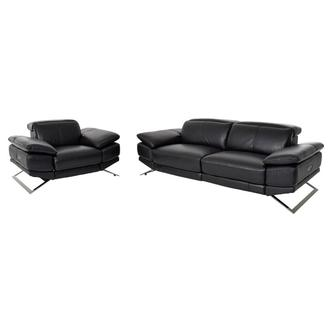 Toronto II Black Living Room Set