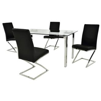 Julli/Jade Black 5-Piece Dining Set