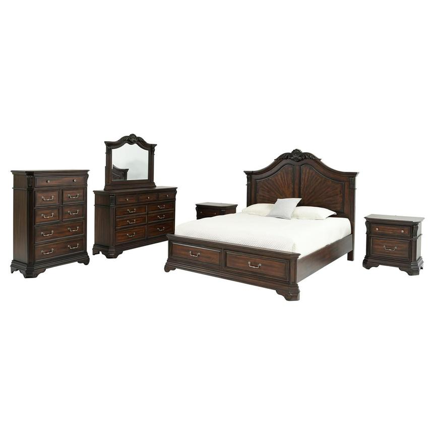 Charles 6-Piece King Bedroom Set  main image, 1 of 7 images.