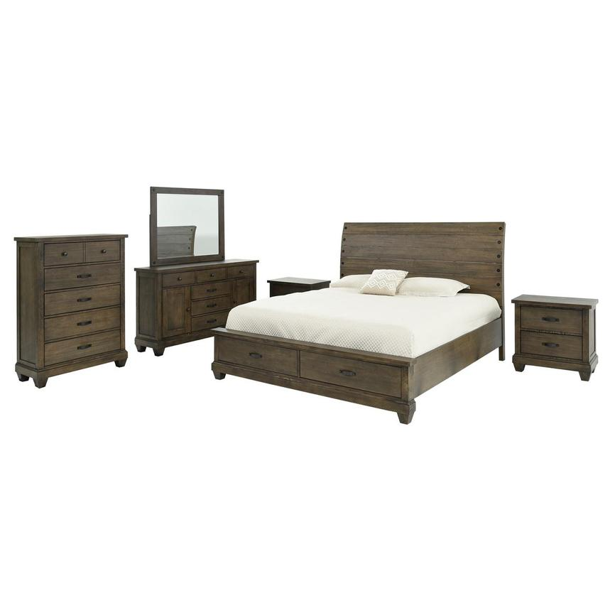 Hamilton Brown 6-Piece King Bedroom Set  main image, 1 of 7 images.