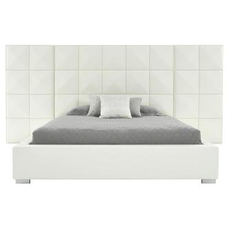 Lux Suite White King Platform Bed