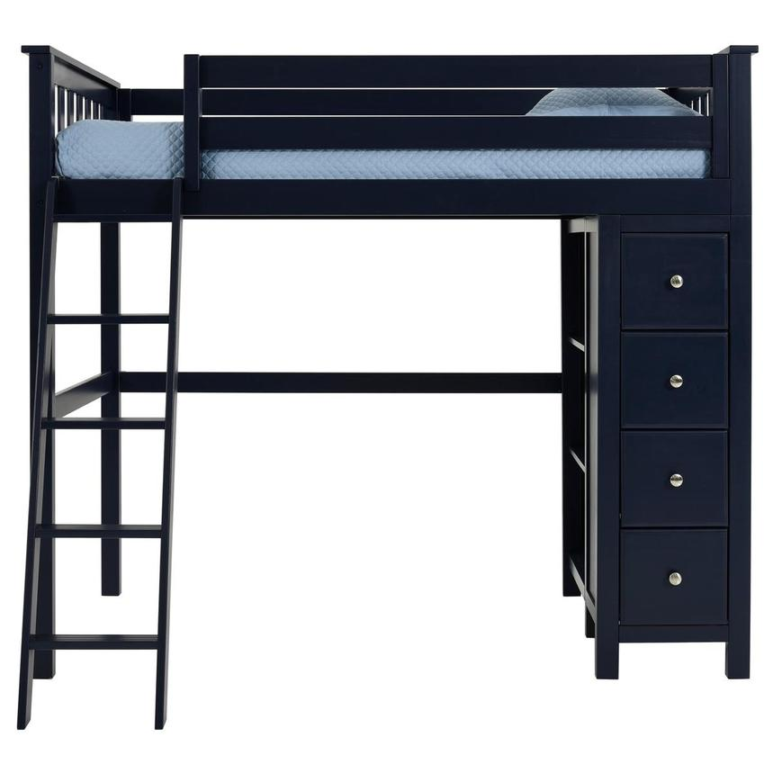 Haus Blue Twin Loft Bed w/Chest  main image, 1 of 11 images.