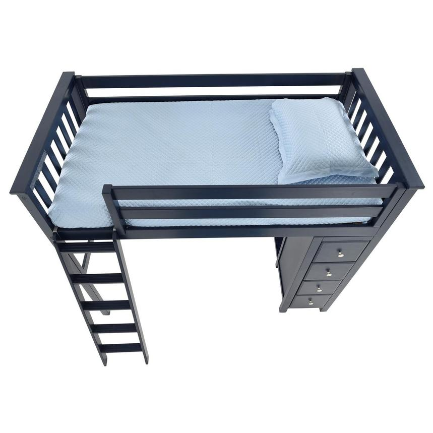 Haus Blue Twin Loft Bed w/Chest  alternate image, 6 of 11 images.