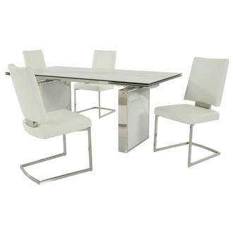Sveva White 5-Piece Formal Dining Set