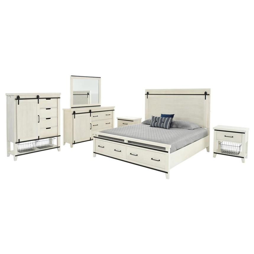 Markus 6-Piece King Bedroom Set  main image, 1 of 6 images.