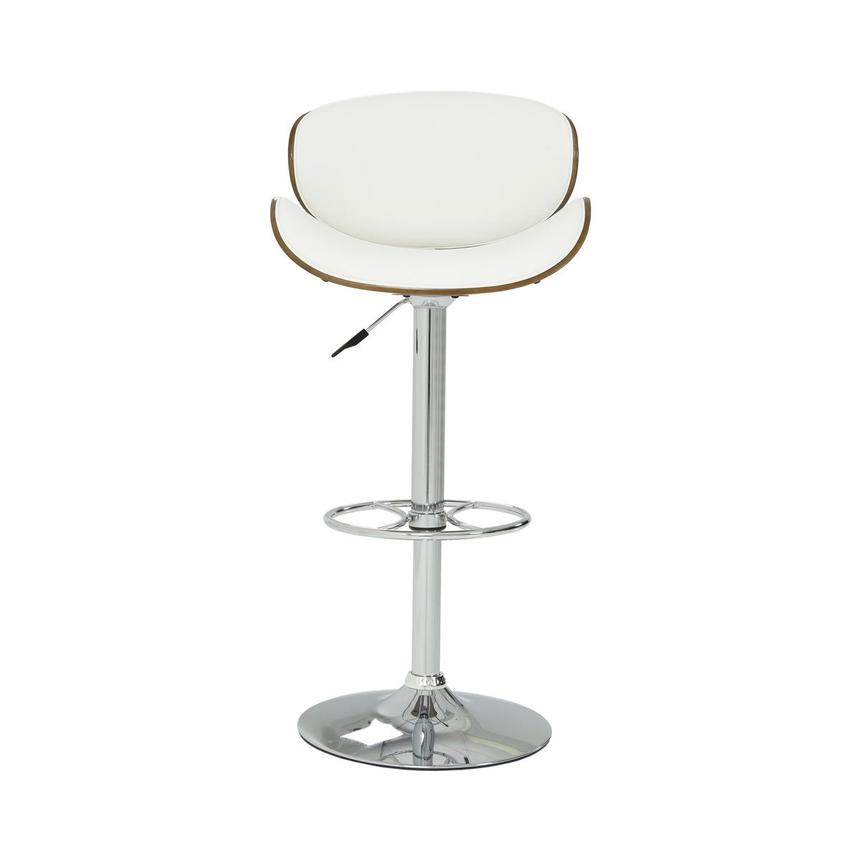Fiorella White Adjustable Stool  main image, 1 of 7 images.