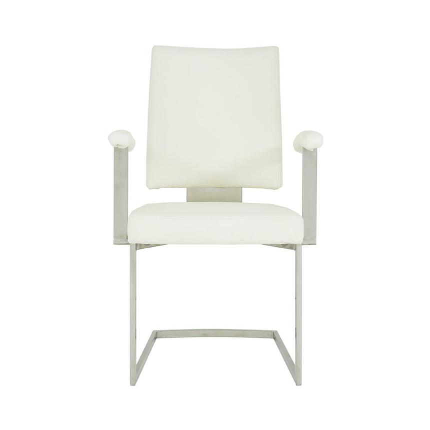 Sveva White Arm Chair  main image, 1 of 6 images.