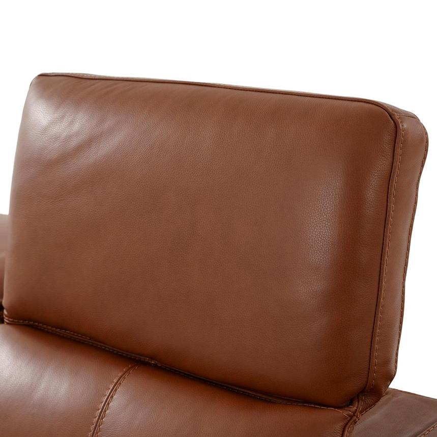 Katherine Tan Leather Power Reclining Loveseat  alternate image, 6 of 10 images.
