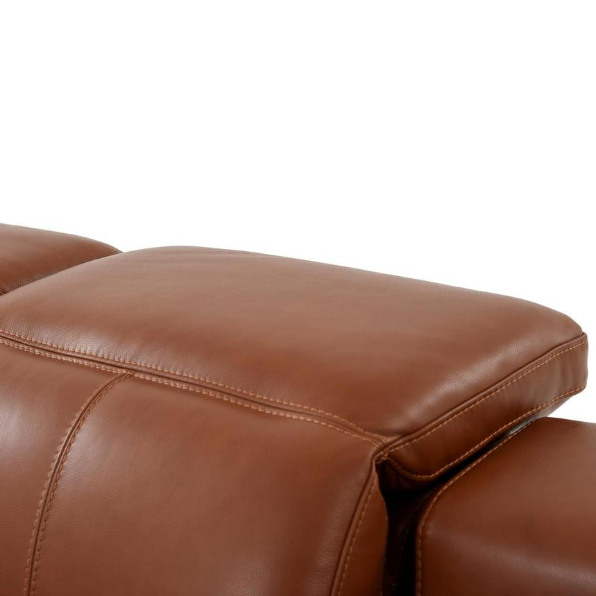 Katherine Tan Leather Power Reclining Loveseat  alternate image, 7 of 12 images.