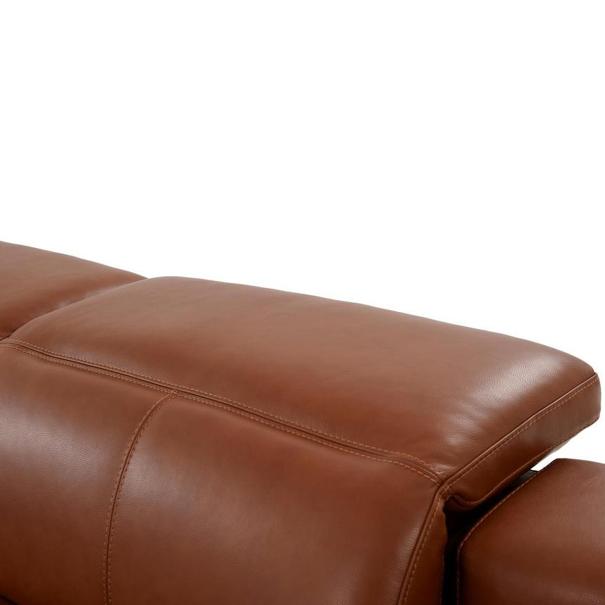 Katherine Tan Leather Power Reclining Sofa  alternate image, 7 of 12 images.