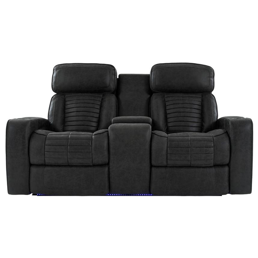 Tim Power Reclining Sofa w/Console  main image, 1 of 12 images.