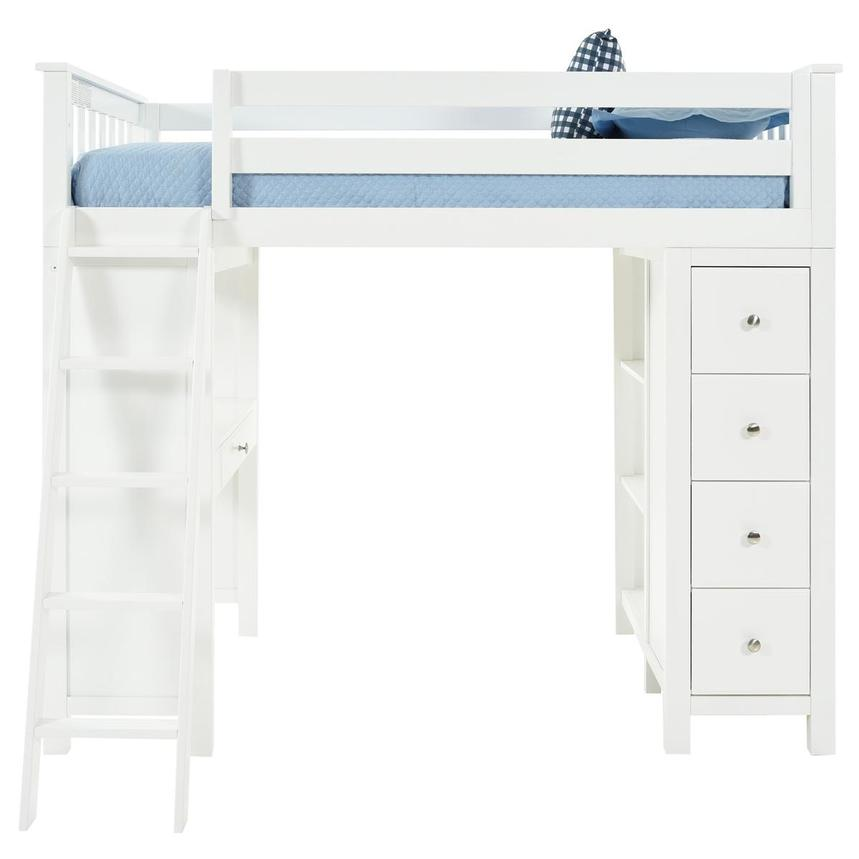 Haus White Twin Loft Bed w/Desk & Chest  main image, 1 of 15 images.