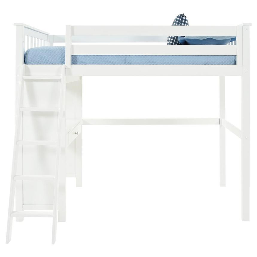 Haus White Twin Loft Bed w/Desk  main image, 1 of 11 images.