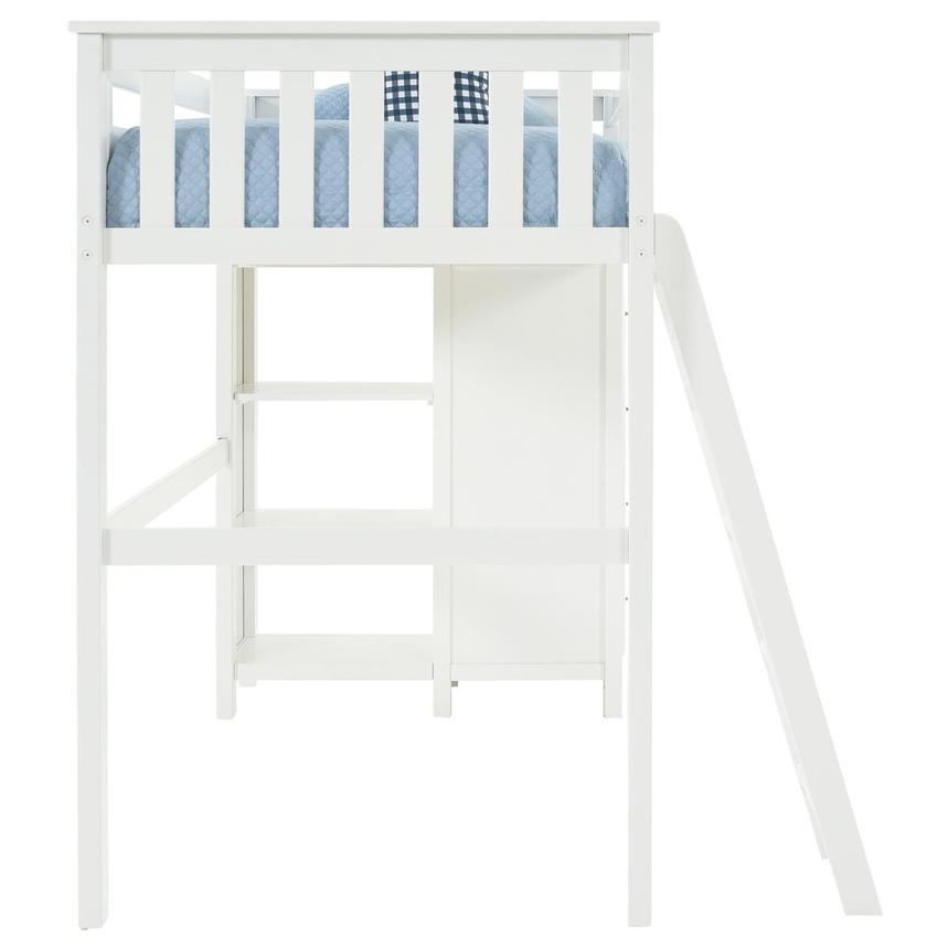 Haus White Twin Loft Bed w/Chest  alternate image, 6 of 13 images.