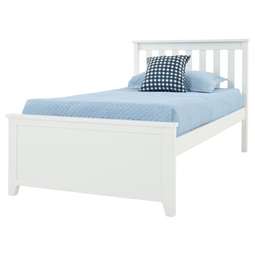Haus White Twin Panel Bed  main image, 1 of 6 images.