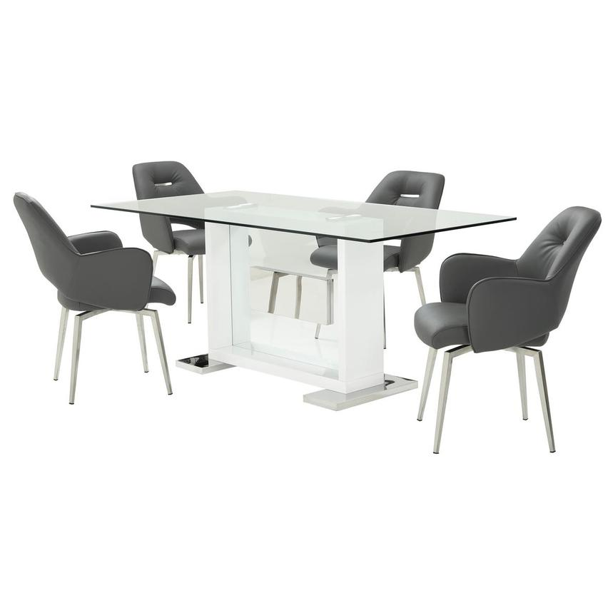 Finley Gray 5-Piece Formal Dining Set  main image, 1 of 13 images.