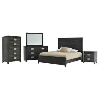 Contour Gray 6-Piece King Bedroom Set