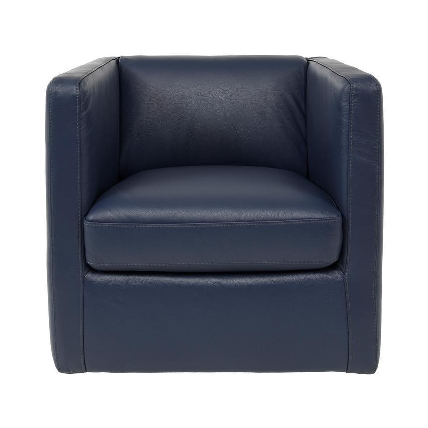 Super Cute Blue Leather Swivel Chair Lamtechconsult Wood Chair Design Ideas Lamtechconsultcom