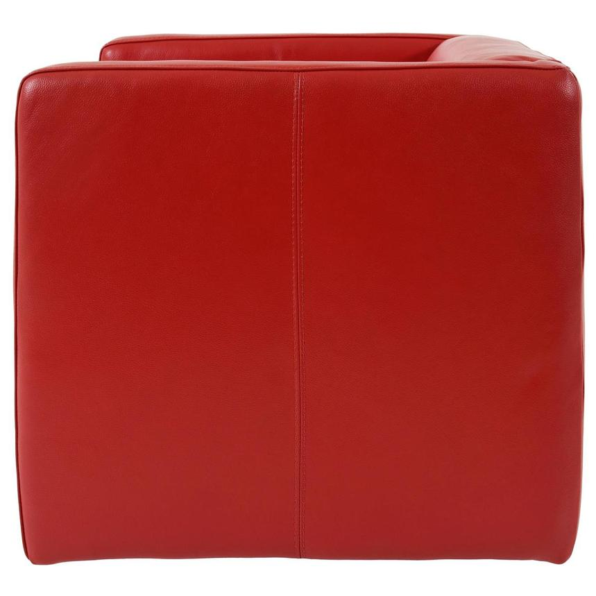Cute Red Leather Swivel Chair  alternate image, 3 of 6 images.