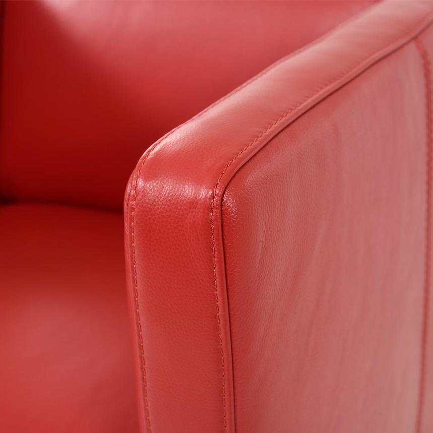 Cute Red Leather Swivel Chair  alternate image, 6 of 6 images.