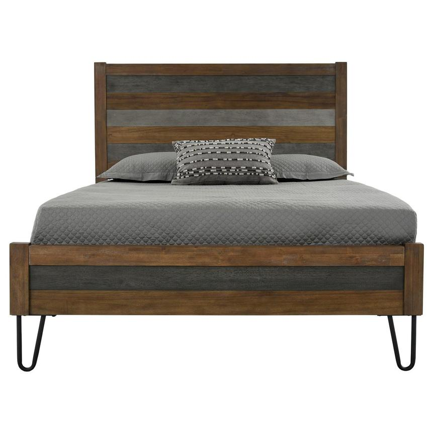 Sandy Gray Full Panel Bed