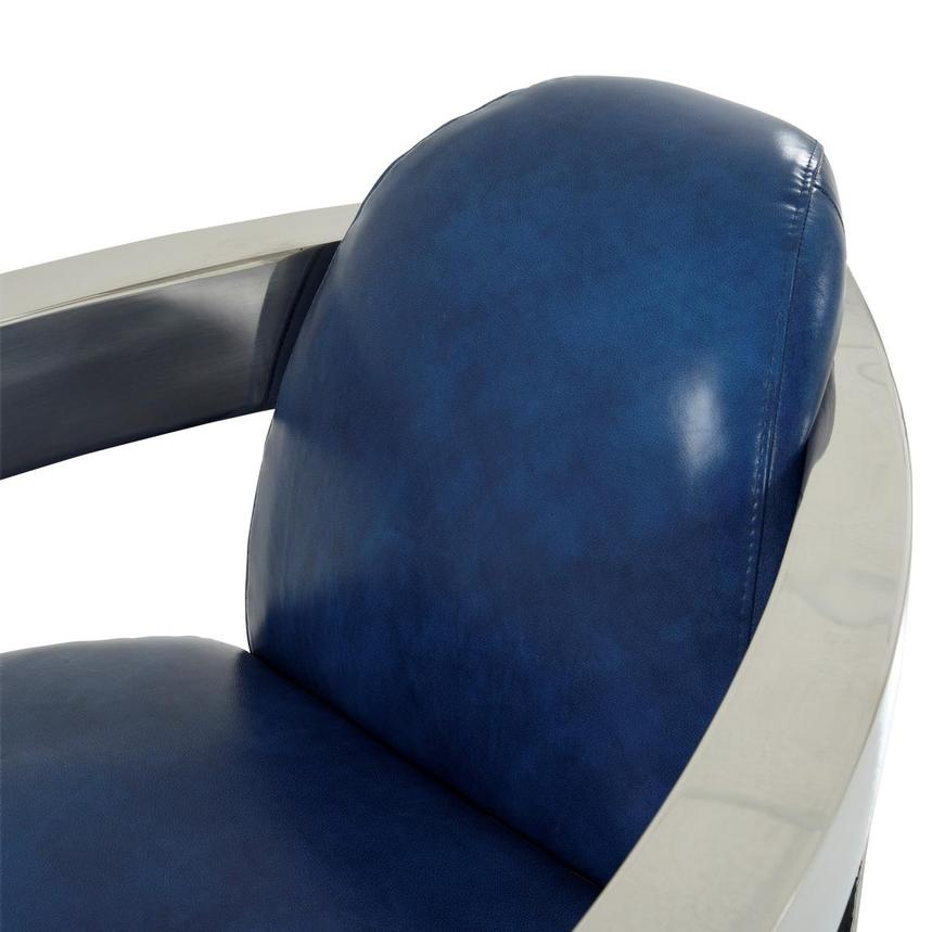 Aviator II Blue Leather Accent Chair  alternate image, 7 of 9 images.