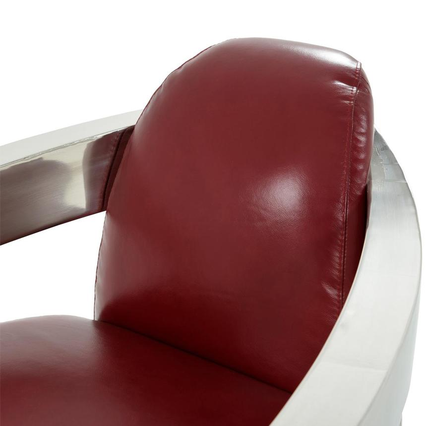 Aviator II Red Leather Accent Chair  alternate image, 7 of 8 images.