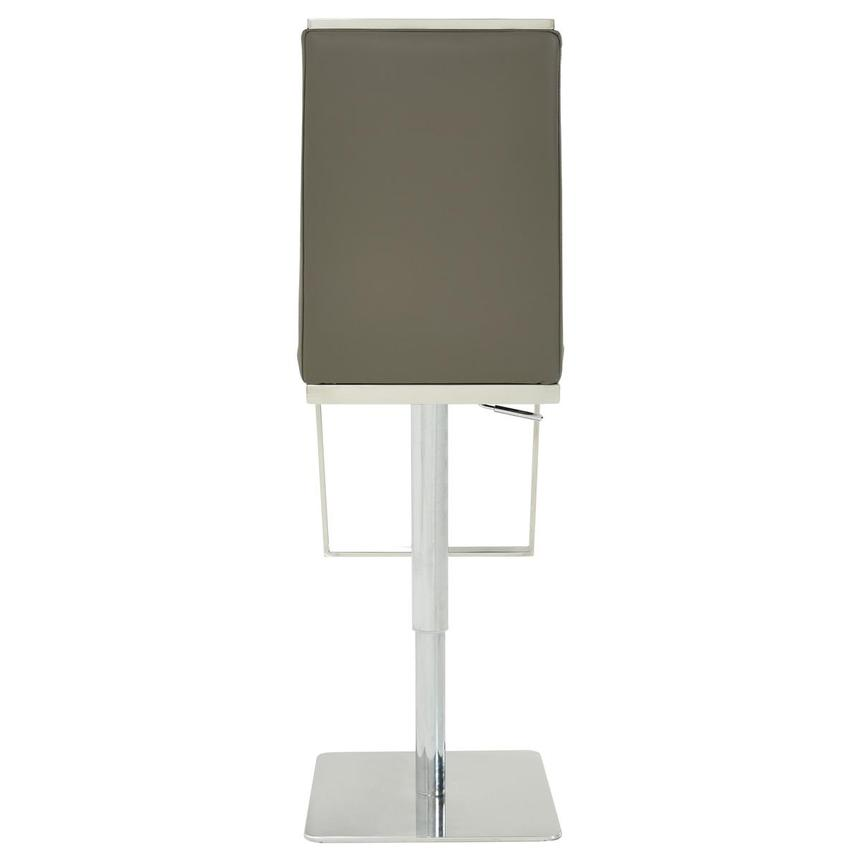 Hyde II Gray Leather Adjustable Stool  alternate image, 5 of 8 images.