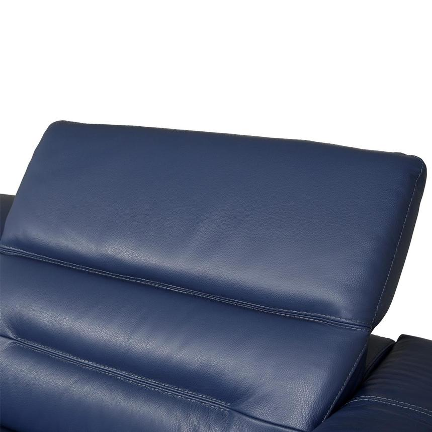 Anabel Blue Leather Power Reclining Sofa  alternate image, 6 of 10 images.