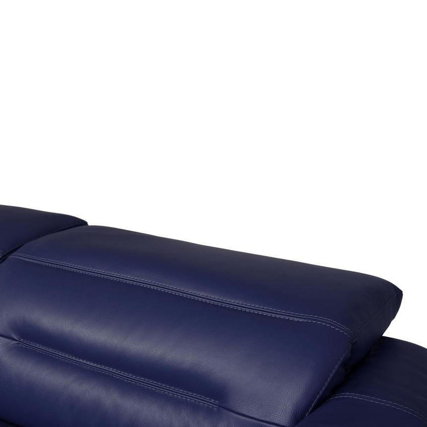 Anabel Blue Leather Power Reclining Sofa  alternate image, 7 of 12 images.